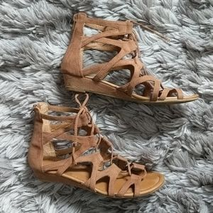 Gladiator Lace Up Flat Sandals
